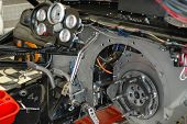 stock photo of dragster  - Complex interior of funny car dragster - JPG