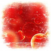 grunge red circles on a vintage background