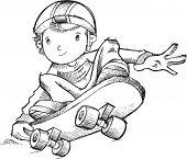 Skateboarder Vector Illustration Art