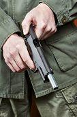 Soldier Shutter Cocking Pistol Gun
