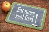 image of slating  - Eat more real food   - JPG