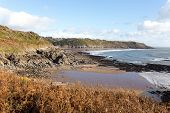 View across Brandy Cove, near Caswell Bay, on Tthe South Wales Coast Path