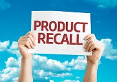 Product Recall card with sky background