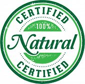 Certified 100% Natural Product Stamp