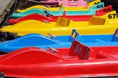 Coloured paddle boats