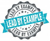 Lead By Example Vintage Turquoise Seal Isolated On White