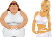 foto of fat woman  - Vector illustration - JPG