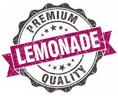 Lemonade Grunge Violet Seal Isolated On White