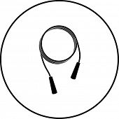 foto of jump rope  - jumping rope symbol - JPG