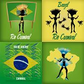 stock photo of brazilian carnival  - a set of colored backgrounds with different elements for brazilian carnivals - JPG