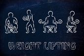 Strenght Training And Weight Lifting Illustration