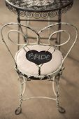 Vintage White Chair with Bride Sign