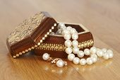 Pearl beads in the box