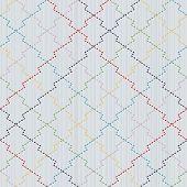 Traditional Japanese Embroidery Ornament. Pine bark motif. Sashiko. Seamless vector.