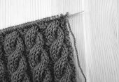 Cable Knitting Stitch On The Needle