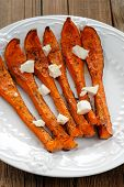 Roasted Butternut Squash With Cheese