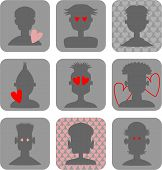 Male Love Icons