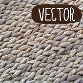 Wicker basket  texture. Vector rustic design background