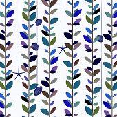 Blue tone nature leaf vine background.