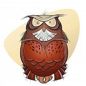 scary cartoon owl