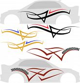 Vehicle Graphics, Stripe : Vinyl Ready Vector Art