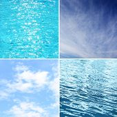 Sky and water collage