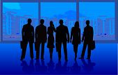 Business Team - silhouette illustration