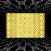 Textured Gold Plaque Background