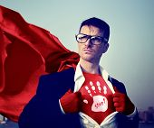 Stop Strong Superhero Success Professional Empowerment Stock Concept