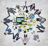 Business People Responsive Design Media Teamwork Support Concept