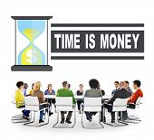pic of time study  - Time Money Hour Glass Casual People Concept - JPG