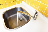 stock photo of bib tap  - Water tap close - JPG