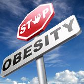 Постер, плакат: obesity prevention stop over weight start campaign with low fat diet for obese children and adults w
