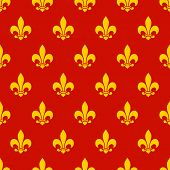 Fleur de lys seamless pattern. Endless background