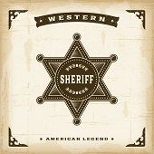 Vintage Western Sheriff Badge