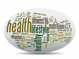 picture of body shapes  - Concept or conceptual abstract word cloud on white background as metaphor for health - JPG