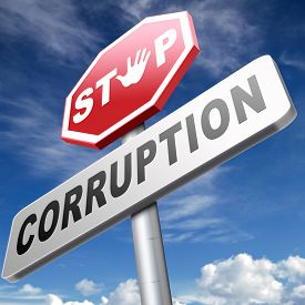 pic of corruption  - stop corruption fraud and bribery political or police can be corrupt  - JPG