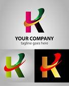 pic of letter k  - Abstract Letter K vector logo symbol design - JPG