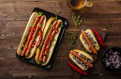 pic of wiener dog  - All beef dogs variations nice hot dogs with beer differend sizes and delicious flavour - JPG