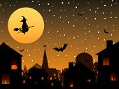 Halloween night in the city.