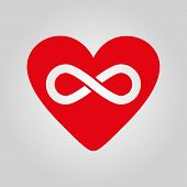 image of infinity  - The heart and infinity icon - JPG