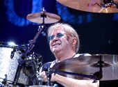 Ian Paice on drums of British band Deep Purple