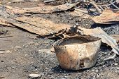 stock photo of fire insurance  - Close up damage rice cooker caused by fire in Thailand - JPG