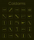 picture of brass knuckles  - It is a set of coldarms simple web icons - JPG