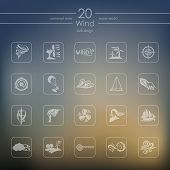 pic of hurricane wind  - wind modern icons for mobile interface on blurred background - JPG