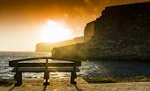 foto of gozo  - Xlendi Bay at sunset in Malta situated in the south west of the island of Gozo - JPG