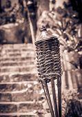 pic of torches  - Traditional torche on mexican graveyard on Yucatan - JPG