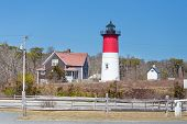 pic of cape-cod  - Nauset Lighthouse in Cape Cod close to Provincetown - JPG