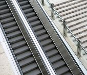 foto of escalator  - escalator and stairs  - JPG