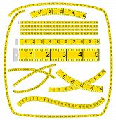 Art brush «measuring Tape»